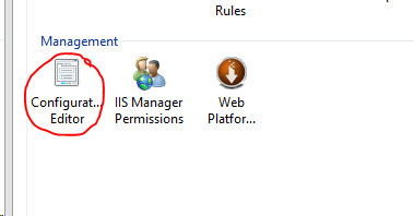 iis manager configuration editor